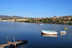 Jezioro Ganzirri, Messina - Zdjęcia Royalty Free