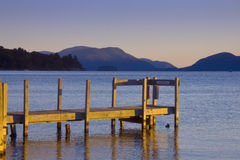 jezioro george rano cicho Obrazy Royalty Free