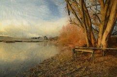 Jezioro i drzewa Zdjęcie Royalty Free