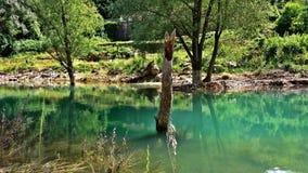 Jezioro i góra w Europa fotografia royalty free