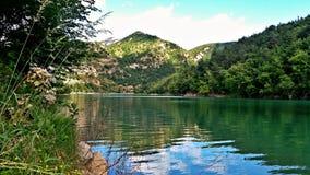 Jezioro i góra w Europa Zdjęcie Royalty Free