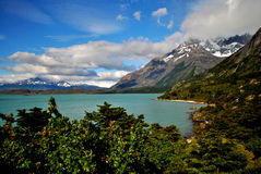 Jezioro i góry w Torres Del Paine Obrazy Royalty Free