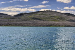 Jezioro i góry w Montana Zdjęcia Stock