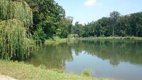 Jezioro i las w Maksimir Zdjęcia Stock