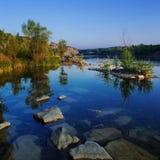 Jezioro i lato las. fotografia stock