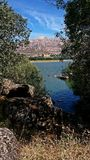 Jezioro i widoki górscy w Hiszpania obraz royalty free