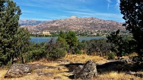 Jezioro i widoki górscy w Hiszpania fotografia royalty free