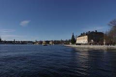 Jezioro i wyspa Zdjęcie Royalty Free