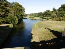 Jezioro krajobraz w parku obrazy royalty free