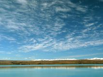 jezioro krajobrazu niebo Obrazy Royalty Free