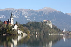 Jezioro Krwawiący, Slovenia Obraz Stock