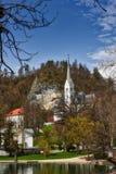 Jezioro Krwawiący, Slovenia Zdjęcia Royalty Free