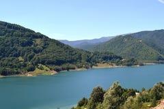 Jezioro który wspina się górę Obrazy Stock