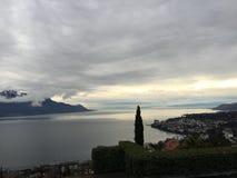 Jezioro Lemański Suisse obraz royalty free