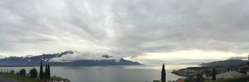 Jezioro Lemański Suisse obraz stock