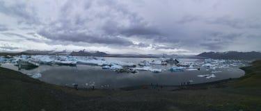 Jezioro lodowiec obrazy royalty free