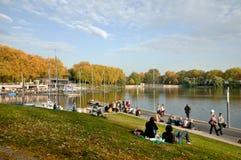 Jezioro MÃ ¼ nster, Niemcy Zdjęcia Stock
