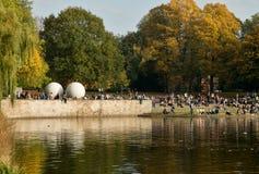 Jezioro MÃ ¼ nster, Niemcy Zdjęcie Stock