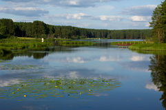 jezioro mały Zdjęcia Royalty Free
