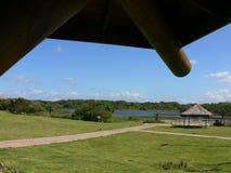 jezioro malowniczy trawy Obrazy Royalty Free