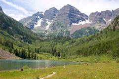 jezioro maroon Zdjęcie Stock