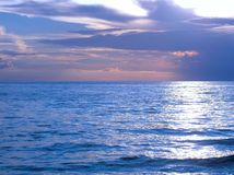 Jezioro Michigan łuny obraz royalty free