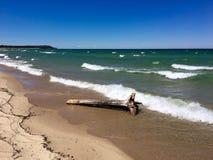 Jezioro Michigan blisko dosypianie niedźwiedzia diun Zdjęcie Royalty Free