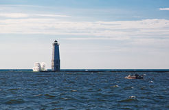 Jezioro Michigan latarnia morska Obraz Stock