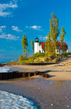 Jezioro Michigan latarnia morska Zdjęcia Royalty Free
