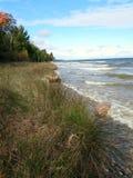 Jezioro Michigan linia brzegowa Zdjęcia Royalty Free