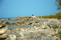 jezioro michigan na plaży Fotografia Royalty Free