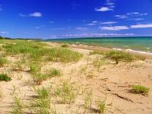 Jezioro Michigan plaży krajobraz fotografia royalty free