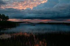 Jezioro Michigan wschód słońca Obraz Royalty Free