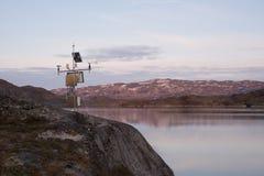 Jezioro mierzący dla energii wodnej Zdjęcie Royalty Free