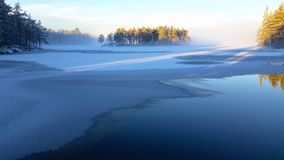 jezioro, mrożone obrazy royalty free