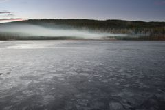jezioro, mrożone zdjęcia stock