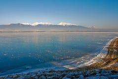 jezioro, mrożone obrazy stock