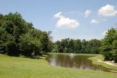 Jezioro na grodowych ziemiach Zdjęcie Royalty Free