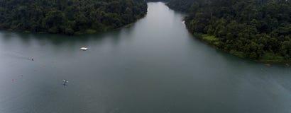Jezioro na lato dniu Obraz Stock