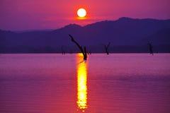 Jezioro na Sri Lanka Obrazy Royalty Free