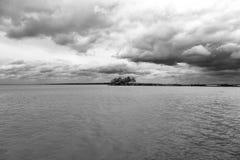 jezioro nad burzą Fotografia Royalty Free
