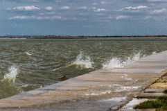 jezioro nad burzą Obraz Stock