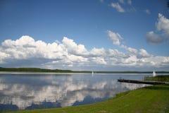 jezioro nad panoramą Zdjęcia Royalty Free