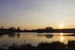 jezioro nad zmierzchem Obraz Royalty Free