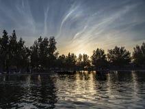jezioro nad zmierzchem Obraz Stock