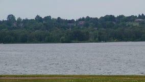 Jezioro nadchodząca burza Krajobraz zdjęcie wideo