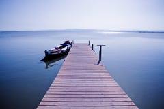 jezioro łodzi ii Fotografia Royalty Free