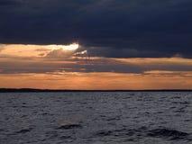 Jezioro Północ Rosja Zdjęcia Stock
