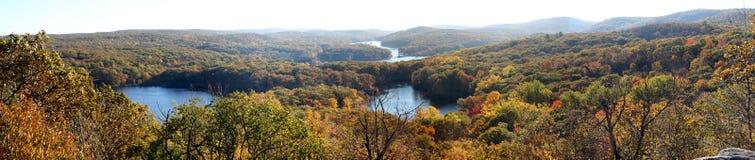 jezioro panorama siedem Obrazy Stock