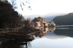 jezioro perełkowy Tibet Obrazy Royalty Free